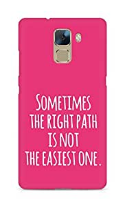 AMEZ the right path is not easy Back Cover For Huawei Honor 7