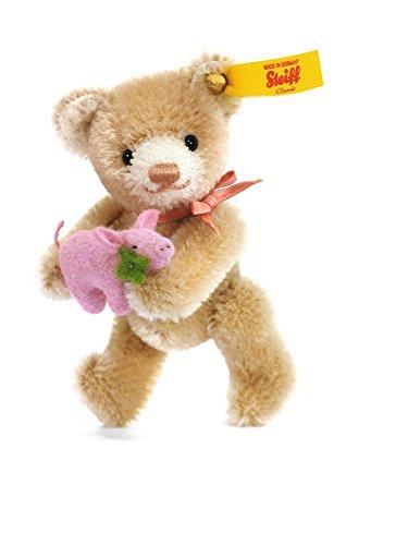 Steiff 39836 - Mini Teddybär Glücksbringer, 9 cm, beige (Knopf Teddybär Steiff)