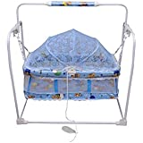 Tender Care Baby Cradle/Crib Cum Swing/Baby Jhula For New Born To 12 Months Kids With Mosquito Net With Pillow (Blue). Superior Quality And Comfort