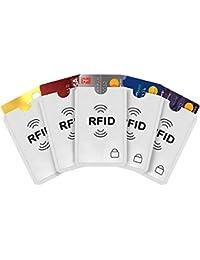 iParn RFID Sleeves Credit Card Sleeve, Debit Card Sleeves, ATM Card Cover, Card Protector Sleeves Blocks Credit Cards White RFID Credit/Debit Card Sleeves