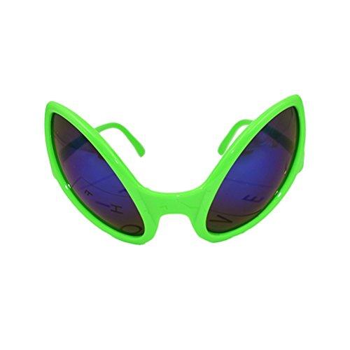 BESTOYARD Neuheit Alien Sonnenbrille Kostüm lustige Brillen Party Zubehör (grün)