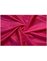 Plain Cloth For Sarees 6.50 Meter Cut Two Tone Cloth Paper Silk Dark Pink
