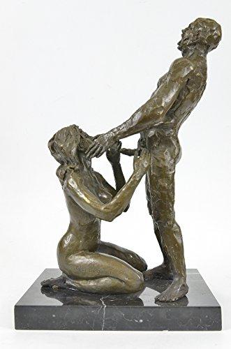 Statua di bronzo Scultura...Spedizione Gratuita...Firmato 100% Erotic Nude Art Sex On base di marmo(XNCH-559-JP)Statue Figurine Figurine Nude per ufficio e casa Décor Primo Giorno Collezionismo Artic