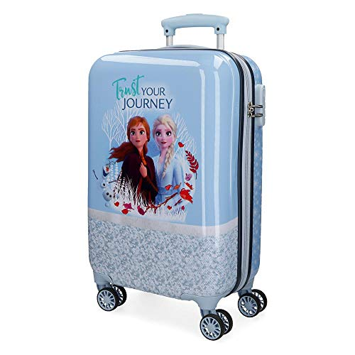 Trolley rigido cabina 55m Frozen Spirits of Nature Azzurro