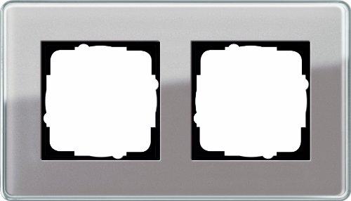 Preisvergleich Produktbild Gira 0212522 Abdeckrahmen 2-fach Esprit Glas C, umbra