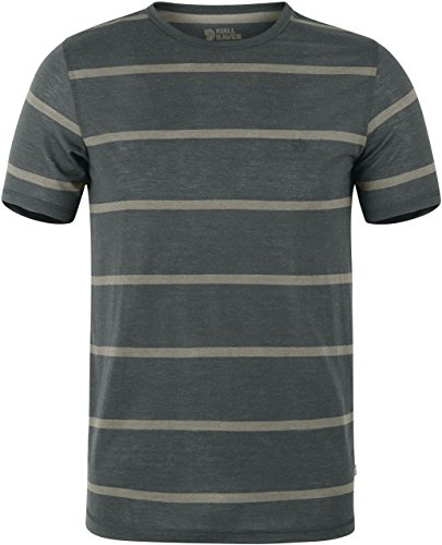 Fjällräven Herren High Coast Stripe T-Shirt, Ash Grey, XS (Polo-ash Grey-t-shirt)