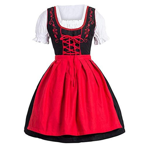 Lazzboy Anime Mädchen Kostüm Cosplay Rollenspiel Kleid Prinzessin Renaissance Schulterfrei Mittelalterliche Trompetenärmel Hohe Taille Riemen Knöchellange Brautjungfern Hochzeits(Rot,4XL)