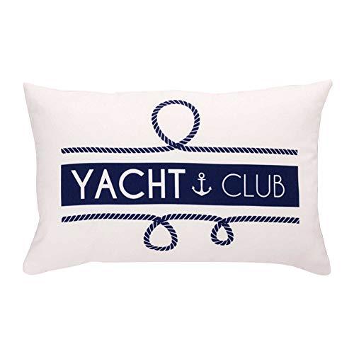 Liza line cuscino arredo, federa per decorare la casa - marinaio - per camera da letto, soggiorno, letto, divano, auto - solo fodera (50x30cm - blu)
