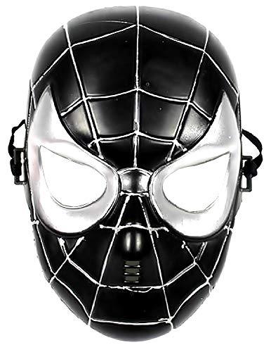 Maschera per Costume Uomo Ragno - Travestimento - Carnevale - Halloween - Spiderman - Super eroe - Nero - Bambini - 5-8 anni - Idea regalo per natale e compleanno
