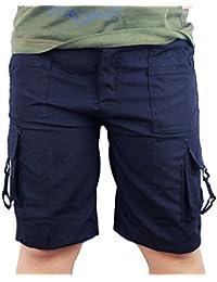 Des shorts pour les garçons, couleur unie, cargaison, été, léger