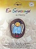 Schutzengel für Henry - (oder geben Sie uns ihren Wunschname an) - Handbemalter Natur Stein