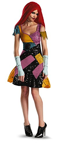 Nightmare Sally Kostüm - Nigtmare Before Christmas Sally Glam Adult Costume 4-6