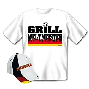 2-teiliges Fanartikel Set zur Bundesliga Fußball Deutschland – Fan T-Shirt
