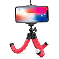 Techlife Flexible Mini Tripod Stand for Mobile Phones and Digital Cameras (Red)