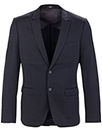 Mexx Herren Sakko Business Anzug, Kurzmantel, Blazer fürs Büro und den Alltag, Dunkelblau SLIM FIT,Schwarz Elegant