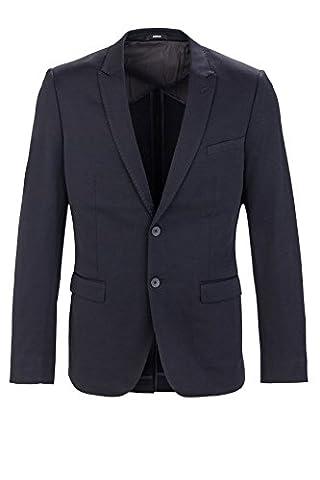 Mexx Herren Sakko Business Anzug, Kurzmantel, Blazer fürs Büro und den Alltag, Dunkelblau SLIM FIT,Schwarz