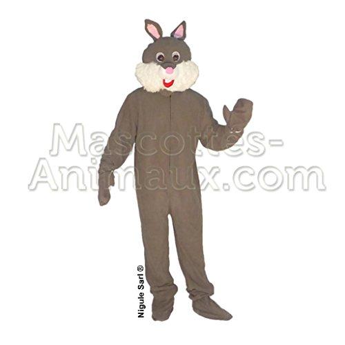 Hasenkostüm Maskottchen Grau. Kostüm Fasching-Hase, grau