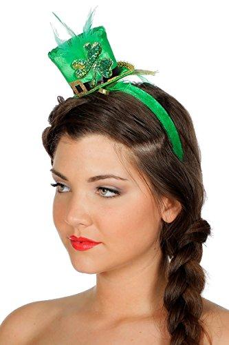 Hut Haarreif Mini Grün Irland Irisch Glücksklee zum Kostüm (Kostüme Von Irland)