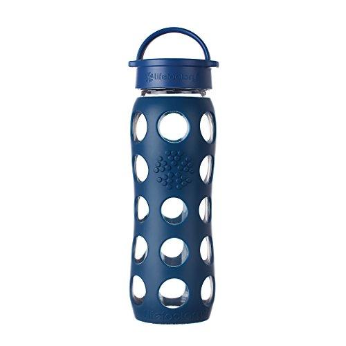 Lifefactory 13574 Glas -Trinkflasche 650ml, midnight blue