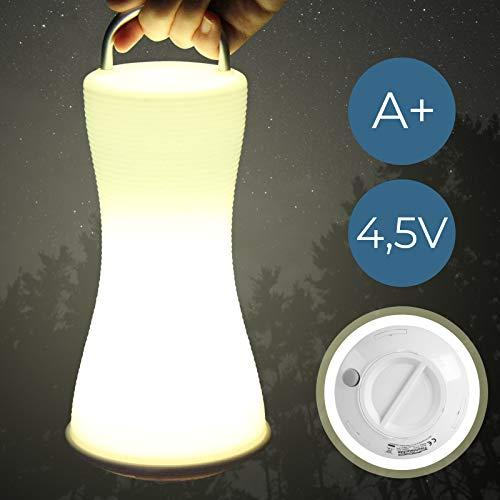 Campinglampe LED | mit Praktischen Tragegriff, ohne Kabel und Strom, Spritzwassergeschützt, 6 LEDs | Campingleuchte, Außenlampe, Gartenleuchte, Tischleuchte