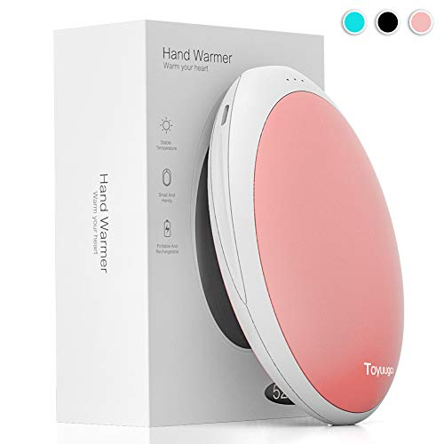 toyuugo Handwärmer Wiederverwendbar USB 5200mAh Handwärmer Elektrisch Akku tragbare Power Bank Kompatibel mit Handys und Tablets-Rosa