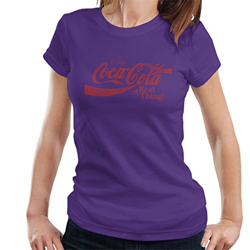 Coca Cola Real Thing Women's T-Shirt Purple