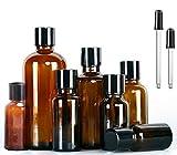 7 Stück Essential Öl Flasche Bottles Leer Amber Glasses Spray Flaschen DIY Blends Supplies Tool & Zubehör Parfüm-Aromatherapie Carrier Oil Kit Bulk Essentials (7 Flasche mit ätherischem Öl)