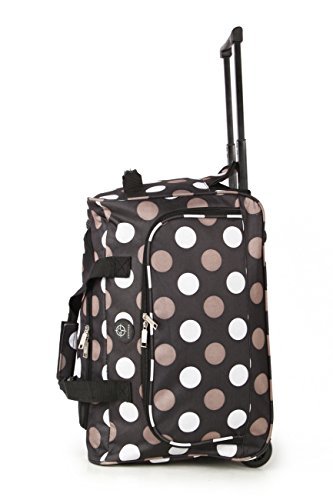 Compass Bagage cabine Noir à pois Wheeled Holdall