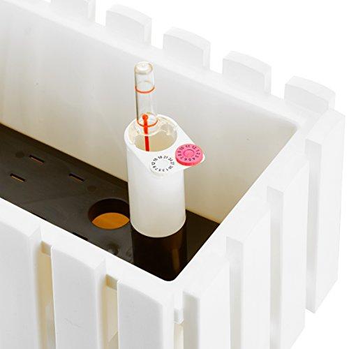 Plastkon autoirrigazione fioriere Smart sistema fency 50cm, bianco - 2