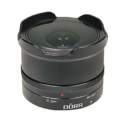 Dörr Fisheye 12mm - Objetivo (MILC, 4/4, ancho de ojo de pez, Fuji X-Serie, Fujifilm, Negro)