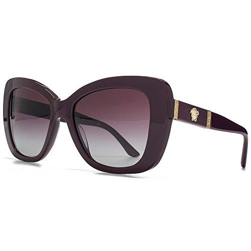 Versace Medusa Logo torché lunettes de soleil en aubergine VE4305Q 50664Q 54 Violet Gradient