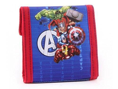 Marvel Avengers Geldbörse Geldbeutel Kinder Portemonnaie Superhelden blau/rot