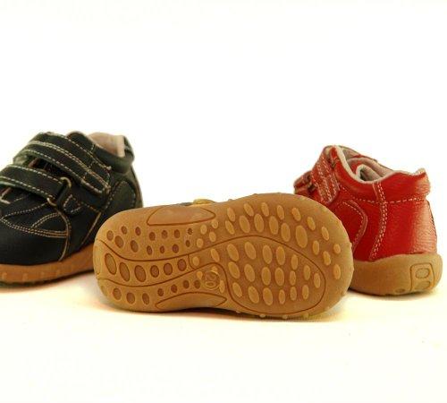 Unisex Kinder Halbschuhe - Sneaker in rot,gelb oder grau mit Klettverschluß xxxx LEDER xxxx Gelb