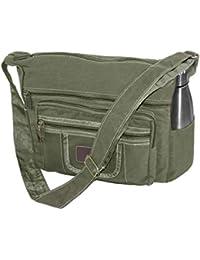 bbfdfe0d12 DAHSHA Stylish cotton sling cross body messenger college one side shoulder  bag for men women