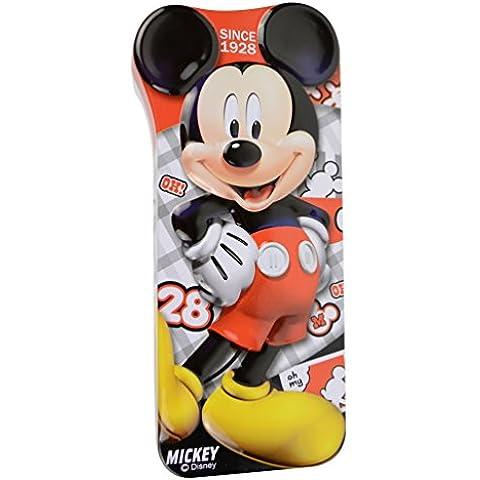 Disney Mickey precioso Doble-capas Hierro Rojo titular de la pluma / caja de lápiz de Cajas / lápiz 82005-05