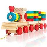 all Kids United Jouet de Train en Bois pour Enfant