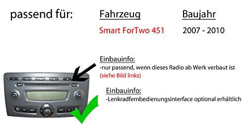 Autoradio-Radio-Pioneer-SPH-DA230DAB-Bluetooth-DAB-USB-Apple-CarPlay-AndroidAuto-Einbauzubehr-Einbauset-fr-Smart-ForTwo-451-2007-JUST-SOUND-best-choice-for-caraudio