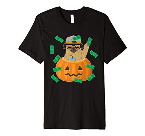Mops Kürbis Halloween Kostüm T-Shirt