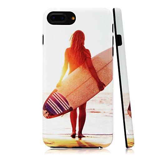 lartin Weicher Flexibler Jellybean Gel TPU Fall für iPhone 8Plus/iPhone 7Plus/iPhone 6S Plus/iPhone 6Plus, Sexy Surfer Girl on The Beach (I Phone 6 Fällen Cheetah)