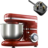 Kitchen Aid Mixer,1200W/ 4L LED Light 6-Speed Kitchen Electric Food Stand Mixer,Whisk Blender Cake Dough Bread