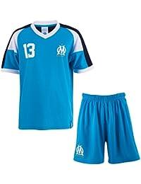 Ensemble maillot + short OM - Collection officielle Olympique de Marseille - Taille enfant garçon