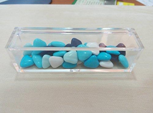 Scatolina bomboniera rettangolare plexiglass cm 12x3,5x3 confezione 10 pezzi- senza confetti