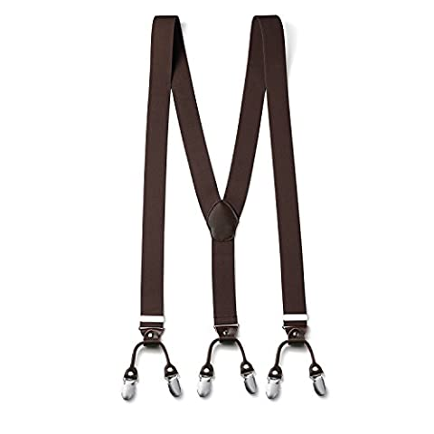 FydRise Bretelles Y entierement réglable pour Homme Femme 3.5cm avec 6 clips elastique Solide Casual Pantalon Jeans