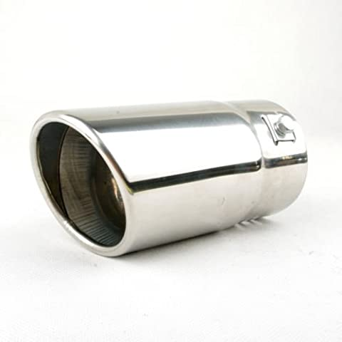 Leadway universal Fits Car Stainless Steel Chrome Round Exhaust Tail