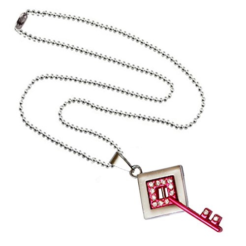 Shiv Jagdamba Pink Crystal Key Alloy Key Necklace Pendent Necklace With Chain For Men And Women