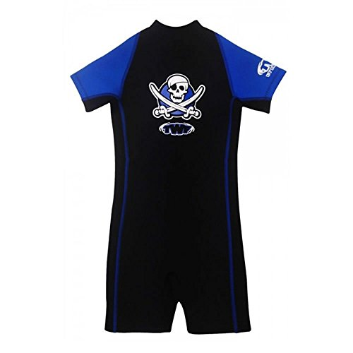 TWF-Childrens-Kids-Boy-Girl-Neoprene-Summer-Shortie-UV-Sun-Protected-WetSuit-Swimsuit-Pirates-Seahorse