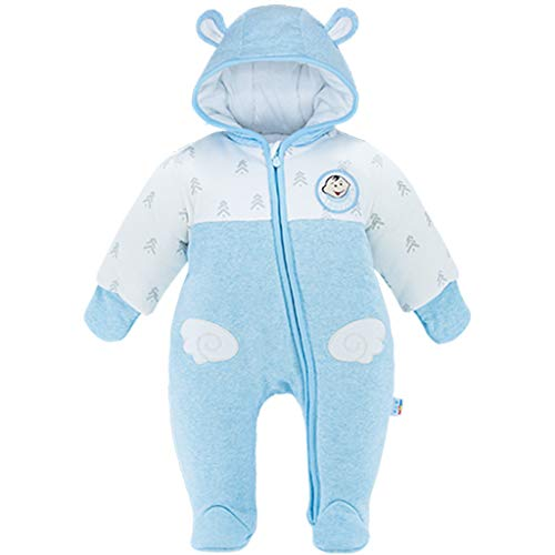 JiAmy Neugeborenes Baby Winter Overall Mit Kapuze Strampler Schneeanzüge Dicke Outfits Blau Wolke 0-3 Monate (Keine Hektik Kostüm)