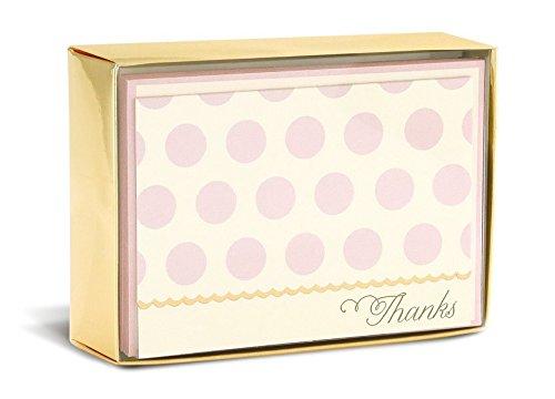 Boxed-geburtstags-gruß-karten (Boxed Notes: Blush Dots – Gruß- und Geschenkkartenbox mit Kuverts: Rosa Punkte)