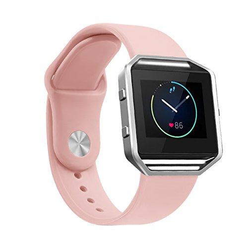 "Produktbild TopTen Fan-Motive Fitbit Blaze Armbanduhr Band,  Silikon Ersatz Handgelenk Gurt Sport Bands verstellbar Armband für Fitbit Blaze Smart Fitness Watch,  unisex,  rose,  Small-5.5""-6.7"""