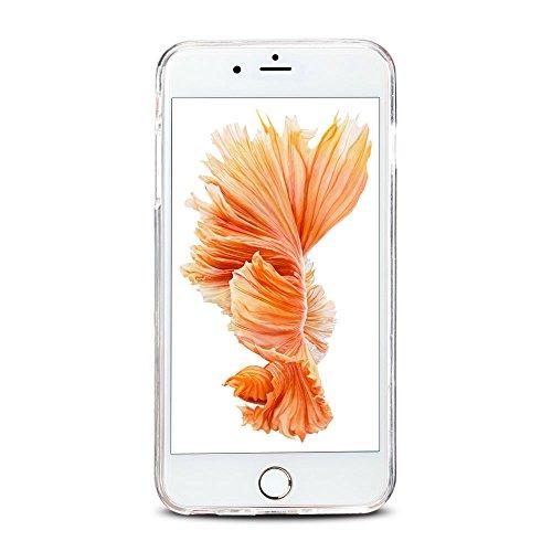 Cover iPhone 6 plus Custodia iPhone 6s plus Silicone Anfire Morbido Flessibile Gel TPU Case per Apple iPhone 6 plus/6s plus (5.5 Pollici) Ultra Sottile Slim Clear Trasparente Copertura Ultra Leggera A Rainbow cavallo